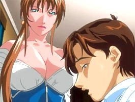 Sexy hentai woman with huge juicy tits fuck her office guy