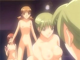 Shaving her pussy makes sexy anime girls wet
