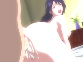 Hentai slut with big boobs gets pounded in the ass