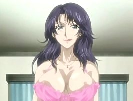 Hot wife with divine hentai tits tease her lover
