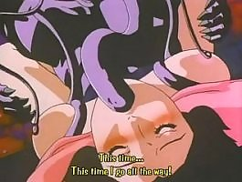 Unchaste interracial action with lots of cum in hentai