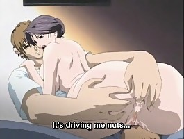 Insane hentai with guy fingering his partner's anus