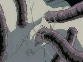 Scary tentacle monster fuck a girl's wet pussy