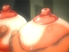 Sexy little anime cutie with a nice rack gets gangbanged hard