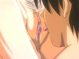 Busty hentai girl gets her wet tight pussy licked
