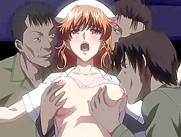 Hentai group tearing babe�s cunt