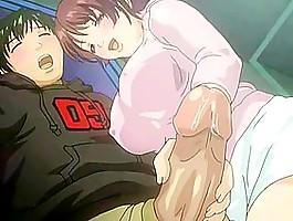 Hard hentai fuck ending up with cum shot